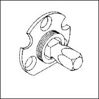 Dummy Spindle (Baldwin 5091.004.A 5091 004.A Dummy Backplate With Spindle .812)