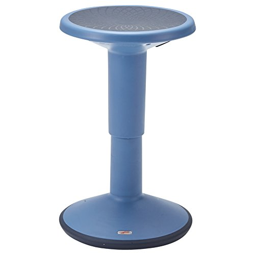 ECR4Kids ELR-15621-PB SitWell Adjustable Stool - Core Engagement/Active Sitting Stool with Adjustable Height, Powder Blue