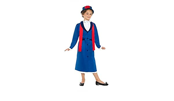 DISBACANAL Disfraz Mary Poppins para niña - Único, 10-12 años ...