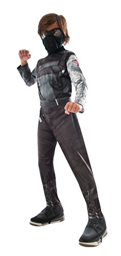 [Rubie's Costume Captain America: Civil War Winter Soldier Child Costume, Small] (Black Panther Costume Marvel)