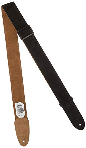 (Levy's Leathers MSS7-BLK Suede-Leather Guitar Strap,Black)