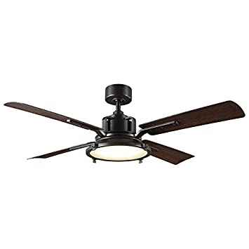 Modern Forms FR-W1818-56L-OB DW Nautilus 56 Four Blade Indoor Outdoor Smart Fan with 6-Speed DC Motor and LED Light, Oil Rubbed Bronze Finish Works with Nest, Ecobee, Google Home and IOS Android App,