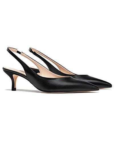 à Zara Femme arrière en Chaussures Cuir 301 l Talons 2918 Ouvertes à 707TZRS