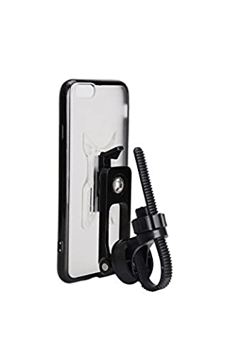 Veetop New 2 in 1 Bike Phone Mount Stem Cap Bike Phone Holder Mountain Bike Sport Bike Handlebar Mount Holder Aluminium Alloy Material With Clip Grip Connect Design ( Case for iPhone 6 6s Included - One Stem