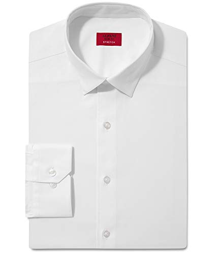 Alfani Mens Stretch Button Up Dress Shirt, White, 15.5