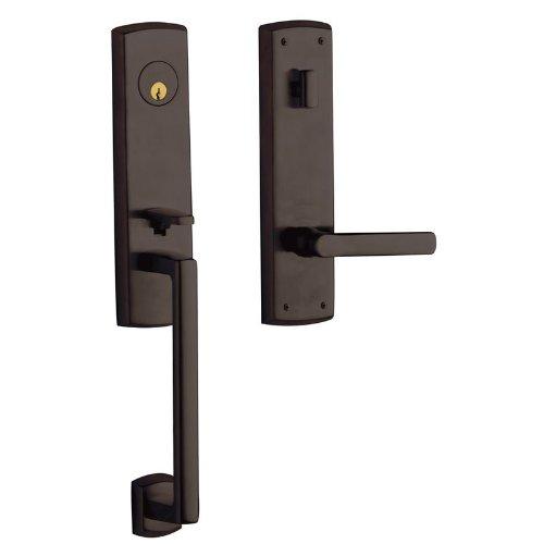 Baldwin 85387.RENT Right Handed Keyed Entry Handleset, Venetian Bronze Bronze Keyed Baldwin Hardware
