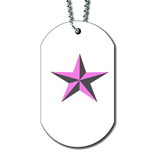 Bsll De Football Rose - Collier Dog Tag Color3