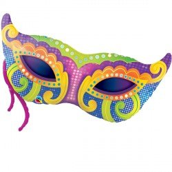 Mardi Gras Mask Shaped Qualatex 38