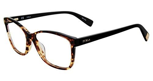 Furla Women's Eyeglasses VFU132 VFU/132 Full Rim Optical Frame 54mm (Tortoise)