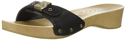 Dr. Scholl's Shoes Women's Classic Slide Sandal, Black Snake Print, 9 M US
