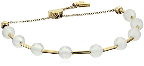 (Skagen Women's Anette Gold-Tone Glass Beaded Bracelet, Gold/White, Size: 0)