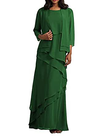 Chiffon Mother of The Bride Dresses Long Evening Formal