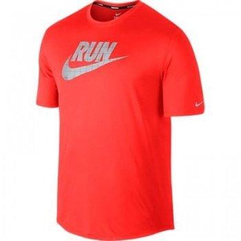 Nike Miler Herren Funktionsshirt RUN neonrot Gr. XXL