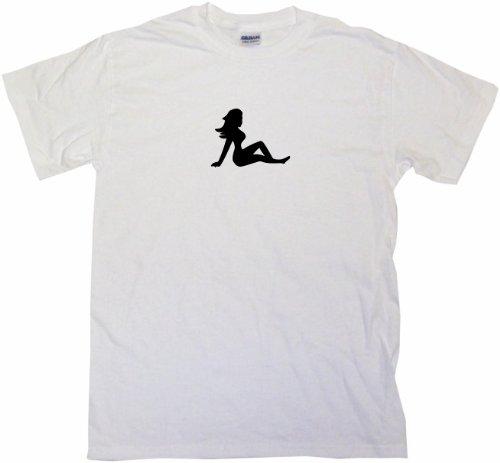 Trucker Mud Flap Girl Logo Men's Tee Shirt 2XL-White (Shirt Flap White Mud Girl)