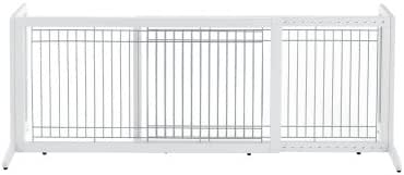 Richell Freestanding Pet Gate, Large, Origami White