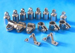 Bimini Top Fittings Kit / Set Hardware - 4 Bow- 1'' 316 Marine Stainless Steel by Inflatable Boat & Marine USA (Image #1)