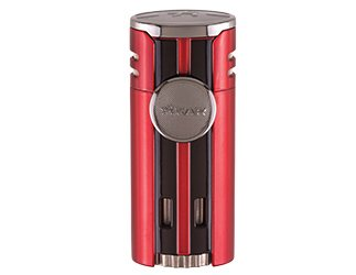 XIKAR HP4 QUAD FLAME LIGHTER RED by Xikar (Image #1)