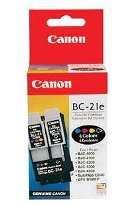 Canon BC-21e Black + Tri-Color OEM Inkjet Cartridges [Electronics]