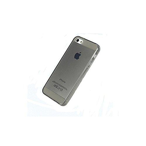 Coque2mobile ® Silikon TPU Hülle Etui Tasche Gel Case Hülle Cover für Apple iPhone 4/4S, Schwarz