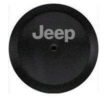 (82215434 2018 Jeep Wrangler Spare Tire Cover - Black Vinyl, Jeep Logo)