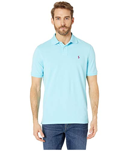(Polo Ralph Lauren Men's Short-Sleeve Classic-Fit Mesh Polo Shirt (X-Large, Hammond Blue))