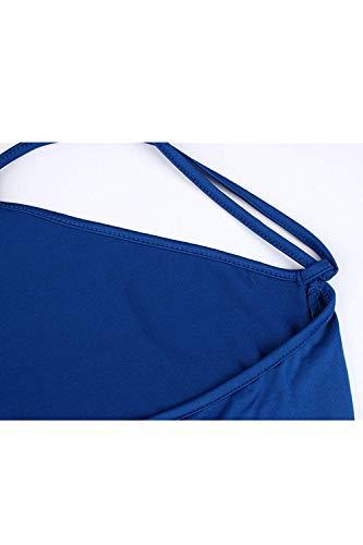 colore Albicocca Midi Abiti Asimmetriche Svasate Small Da Longuette Oudan Dimensione Donna Calde E Sundress Blu Scuro qv4gcPx