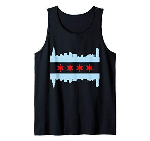 Chicago Flag Skyline Tank Top
