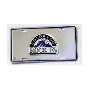 (Colorado Rockies MLB 3D Logo License Plate)