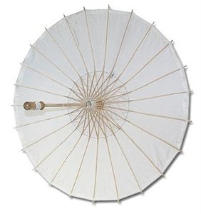 JapanBargain Paper Wedding Party Parasol, White -