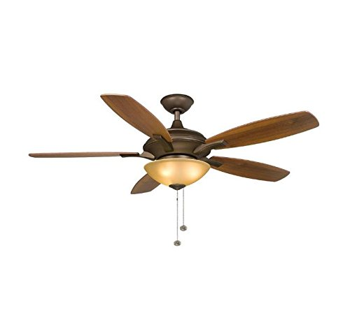Hampton Dark Walnut Wood - Hampton Bay Springview 52 in. Oil-Rubbed Bronze Ceiling Fan