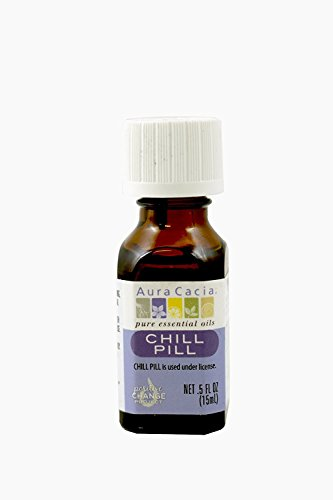 Price comparison product image Aura Cacia Essential Solutions Chill Pill Stress Down Essential Oil,  0.5 Ounce - 3 per case.