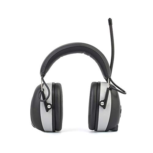 Radio Aircraft Noise (Snug Noise Cancelling Headphones Ear Defender, FM/AM Digital Radio and Built-in, Noise-reducing Earmuffs, with Hands-Free Calling, SNR 23dB Wireless Headphones for Work and Industrial Hearing Prote)