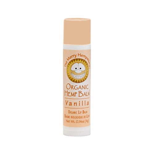 Balm Lip Based (The Merry Hempsters Organic Hemp Lip Balm Vanilla Single Tube)