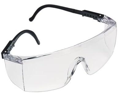 3M Seepro 15957-00000-100 Clear Black Polycarbonate Standard Safety Glasses  - 99.9 %