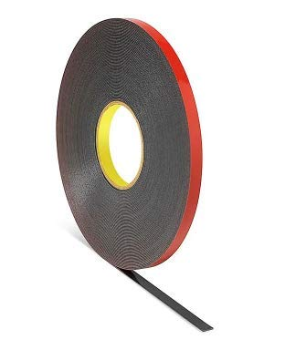 """Genuine 3M 1/2"""" (12mm) x 108 Ft (36 Yards) VHB Double Sided Foam Adhesive Tape 5952 Grey Automotive Mounting Very High Bond Strong Industrial Grade (1/2"""" (w) x 108 ft)"""
