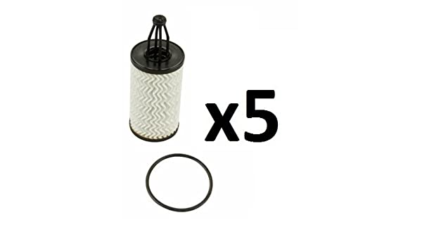 Set of 4 Engine Oil Filter Purflux L394 For Mercedes W204 W212 W218 W166 C350