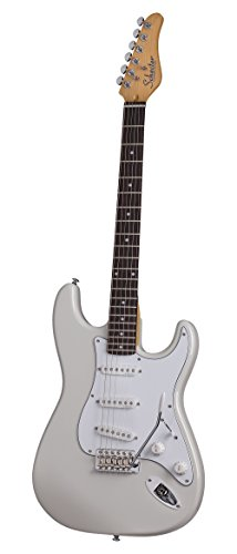 Schecter TRAD STANDARD Arctic White Electric Guitar, California Vintage Collection ()
