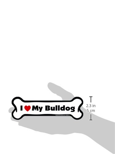 Imagine This Bone Car Magnet, I Love My Bulldog, 2-Inch by 7-Inch by Imagine This (Image #2)