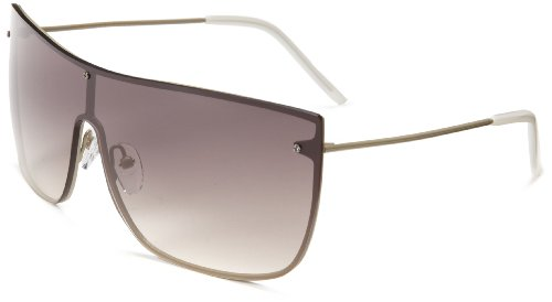 3.1 Phillip Lim Jean Marie Shield Sunglasses,Khaki,51 - Phillip Lim Mens