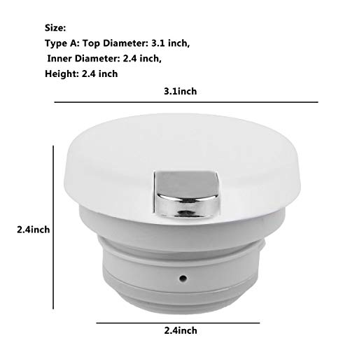 CHICTRY Hot Water Kettle Lid Thermos Coffee Pot Teapot Water Pitcher Lid Replacement with Press Button Type A Off-White One Size by CHICTRY (Image #7)