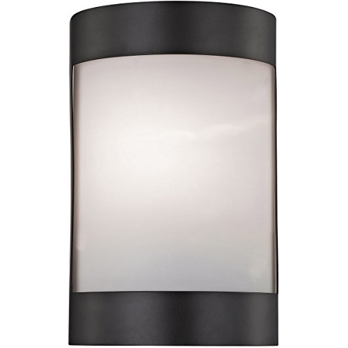 Elk Lighting CN518571 Bella 1-Light Oil Rubbed Bronze with White Glass Diffuser Vanity Wall Sconce
