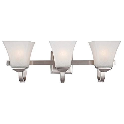 Design House 514760 Torino 3 Light Vanity Light, Satin Nicke