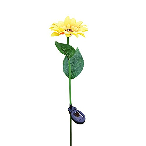 Sunflower Stake (SHZONS Solar Stake Light, Sunflower Light LED Lantern Decorative Outdoor Lawn Yard Lamp,Solar Powered Pathway Lightfor Garden/Patio/Backyard/Lawn,31.50in)