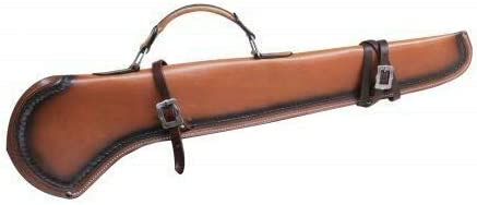 Showman Leather Rifle Scabbard w//Rolled Leather Handle Horse Tack