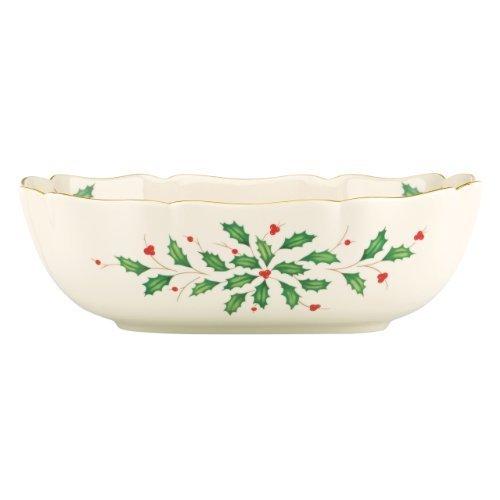 Fluted Oval Casserole - Lenox Holiday Large Fluted Bowl,Ivory