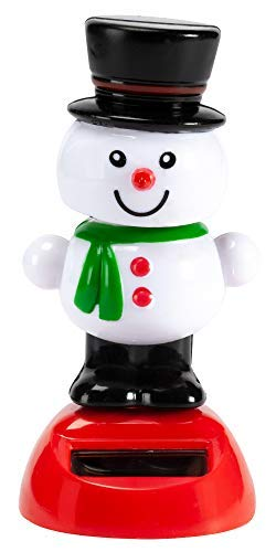 The Paragon Snowman Solar Powered Toy, Motion Dancer Figurine for Car Dashboard or Windowsill