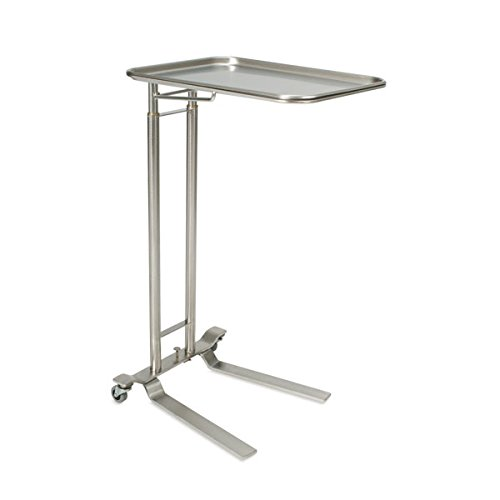 Foot-Operated Stainless Steel Mayo Stand With Extra-Large Tray Tray size: 25