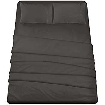 Utopia Bedding 4-Piece Queen Bed Sheet Set (Dark Grey)