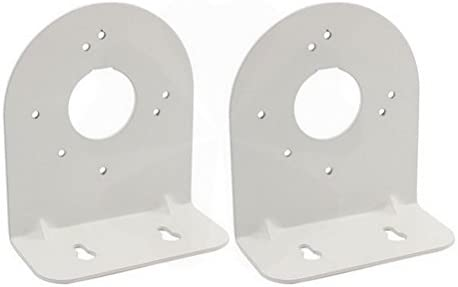 Silver Tone Right Angle CCTV Dome Camera Wall Mount Bracket 115x103x50mm 2Pcs by Ucland