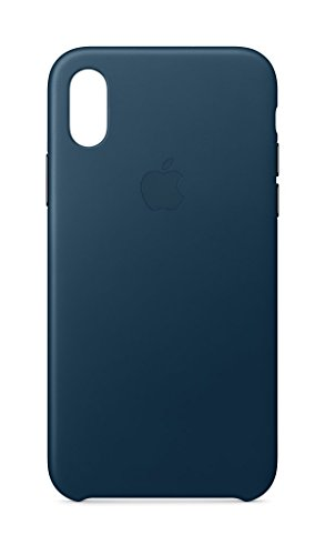 Apple iPhone X Leather Case - Cosmos - Cosmo Blue